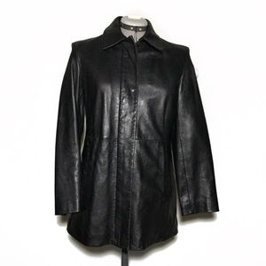 Gap Leather Coat with Warm Lining S